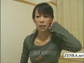 subtitled cougar feminine japanese bodybuilder