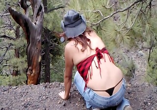sdruws0 - panty strap outdoors