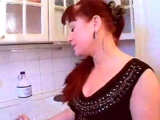 cougar redhaired lady gangbangs fresh cock pretty