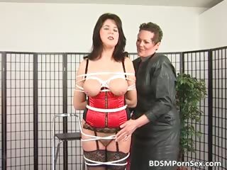 bondage game where brunette desperate mature babe