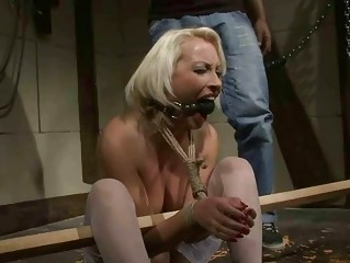 grownup blond acquires bondaged and punished