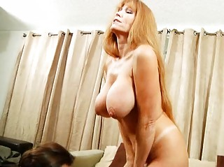 big slutty mature babe acquires titty gangbanged