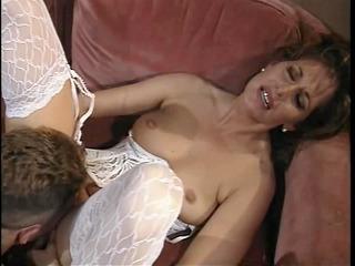retro woman fucked deep on bed