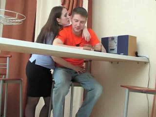 lady exposes boy.