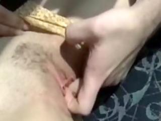 inexperienced pale milf lick suck blowjob handjob