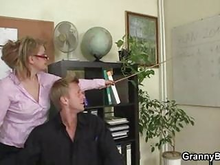 cougar workplace boss forces him bang her