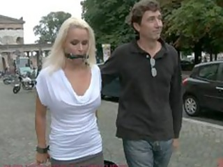 awesome german lady bound and gangbanged into