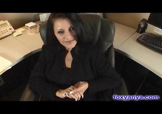 breasty boss receives wicked creampie