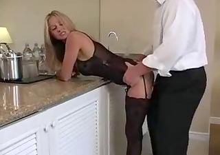 underware blond milf.... does she is make him cum?