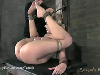 hot milf banged rough into bondage